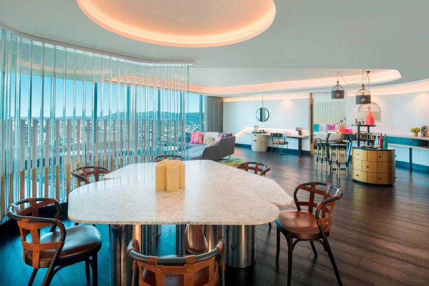W Brisbane Luxury Hotel - Brisbane, Australia - WOW Suite Lounge