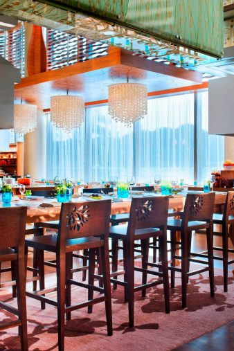 W Singapore Sentosa Cove Luxury Hotel - Singapore - The Kitchen Table Restaurant Chefs Table Seating