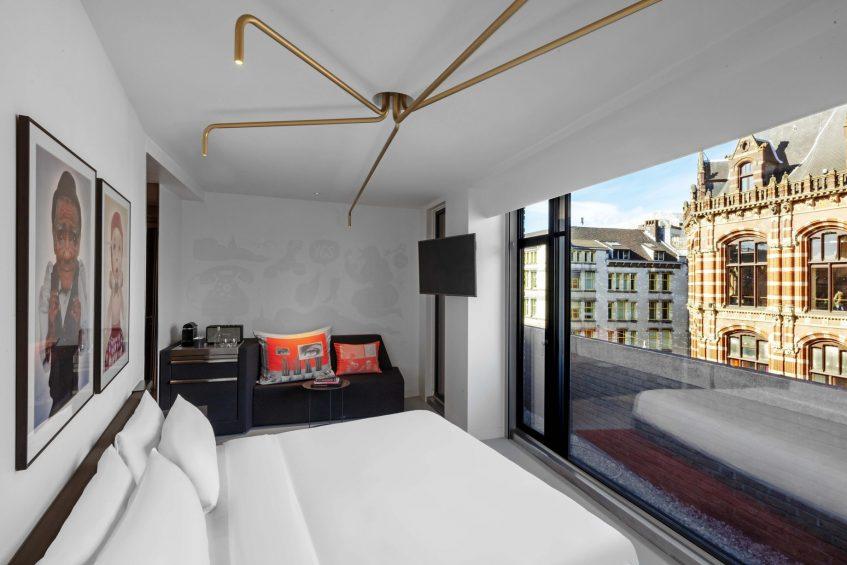 W Amsterdam Luxury Hotel - Amsterdam, Netherlands - Wonderful Exchange Guest Room Balcony View