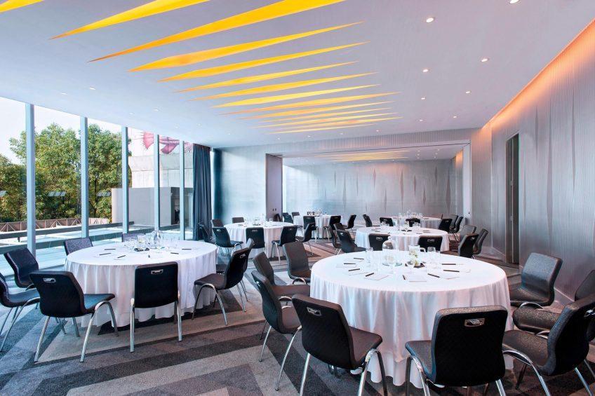 W Mexico City Luxury Hotel - Polanco, Mexico City, Mexico - Great Room Round Table Setup