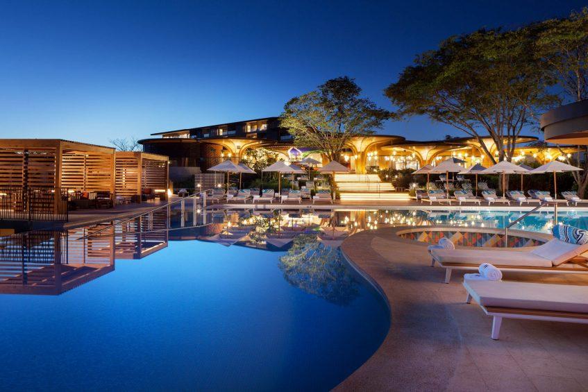 W Costa Rica Reserva Conchal Luxury Resort - Costa Rica - WET Deck and Living Room Night
