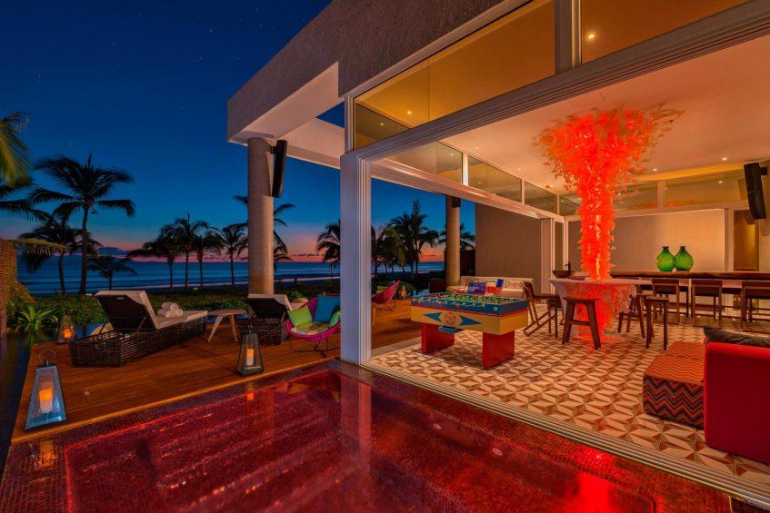 W Punta de Mita Luxury Resort - Punta De Mita, Mexico - E WOW Suite Living Room with Jacuzzi Night