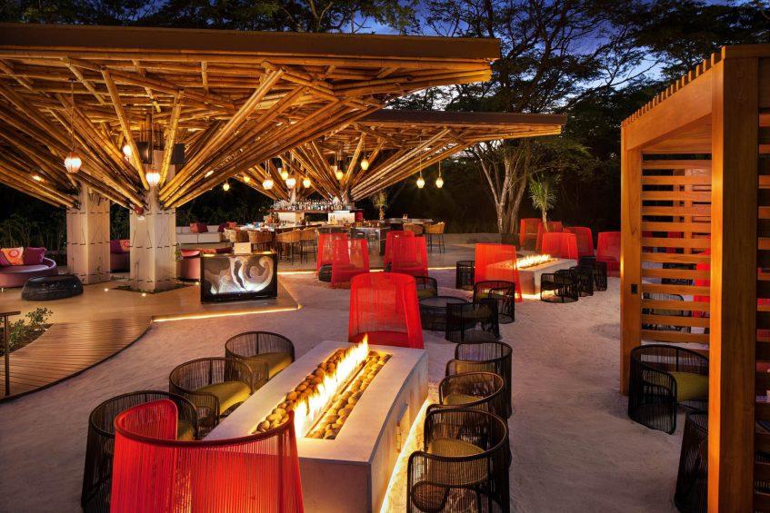 W Costa Rica Reserva Conchal Luxury Resort - Costa Rica - Zona Azul Beach Club Firepits