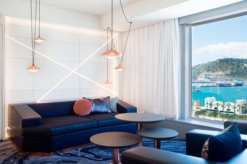 W Barcelona Luxury Hotel - Barcelona, Spain - Studio Suite Living Room
