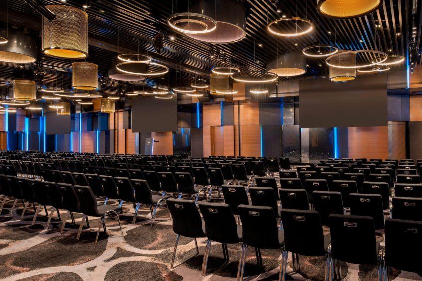 W Brisbane Luxury Hotel - Brisbane, Australia - Great Room Theatre Set Up