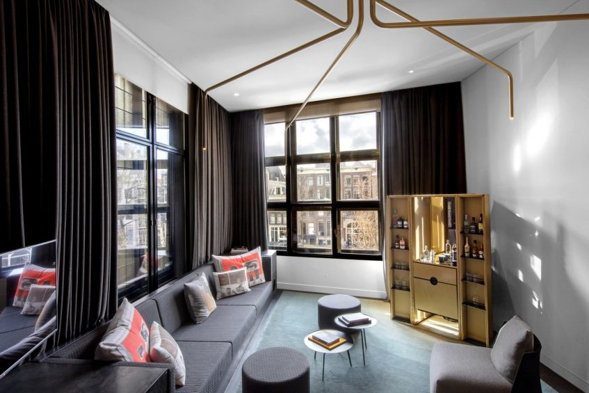 W Amsterdam Luxury Hotel - Amsterdam, Netherlands - WOW Bank One Bedroom Studio Suite View