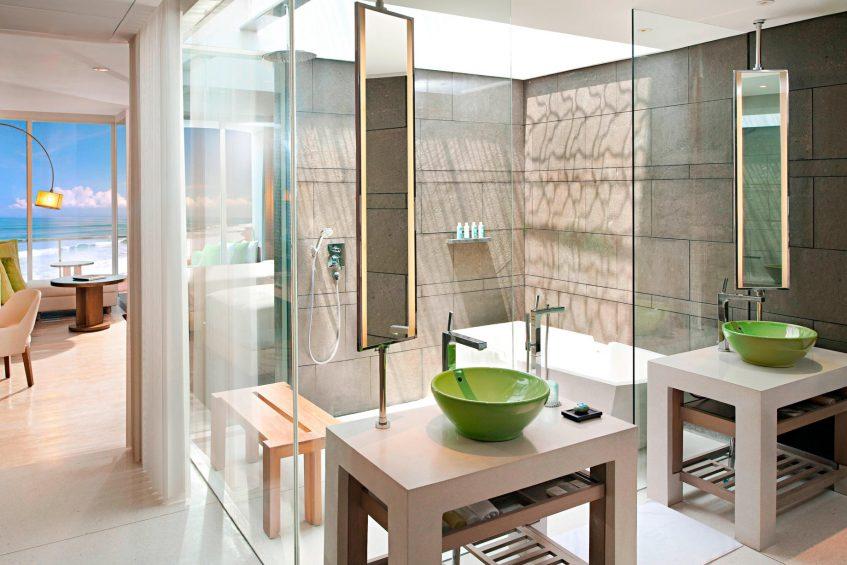 W Bali Seminyak Luxury Resort - Seminyak, Indonesia - Spectacular Ocean Facing Escape Guest Bathroom