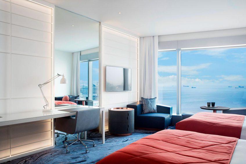 W Barcelona Luxury Hotel - Barcelona, Spain - Wonderful Guest Room Twin View
