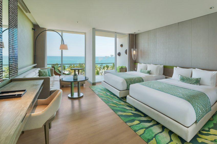 W Bali Seminyak Luxury Resort - Seminyak, Indonesia - Spectacular Ocean Facing Escape Guest Room Twin