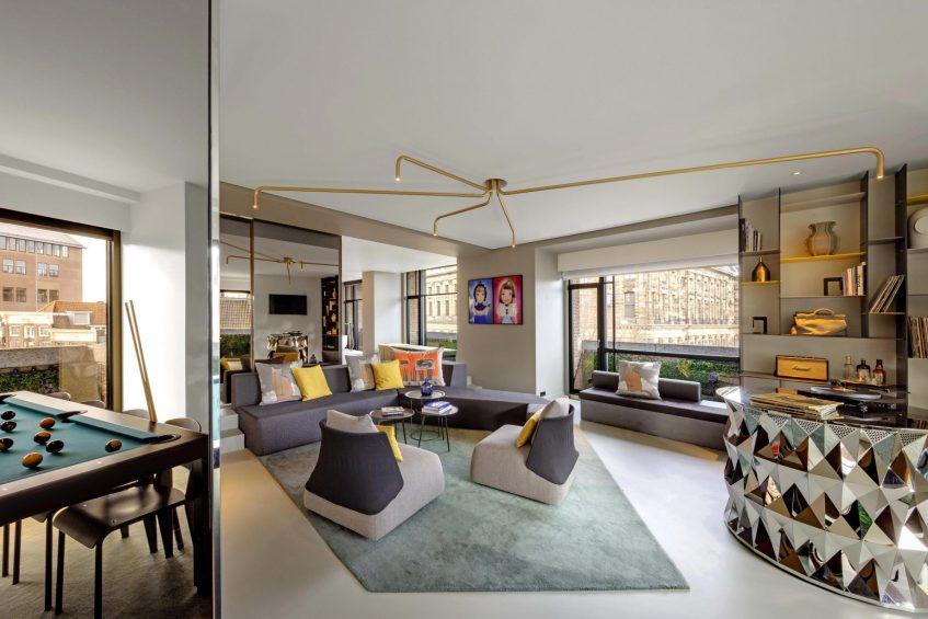 W Amsterdam Luxury Hotel - Amsterdam, Netherlands - WOW Exchange One Bedroom Studio Living Room