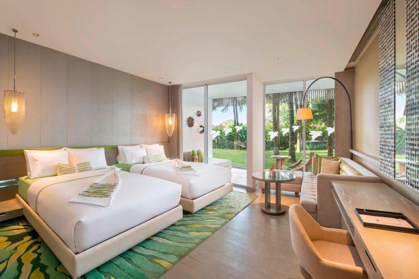 W Bali Seminyak Luxury Resort - Seminyak, Indonesia - Wonderful Garden Escape Twin Bed Guest Bedroom