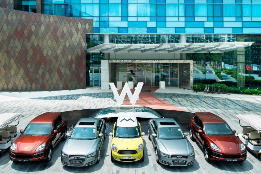 W Singapore Sentosa Cove Luxury Hotel - Singapore - Exterior Porte Cochere