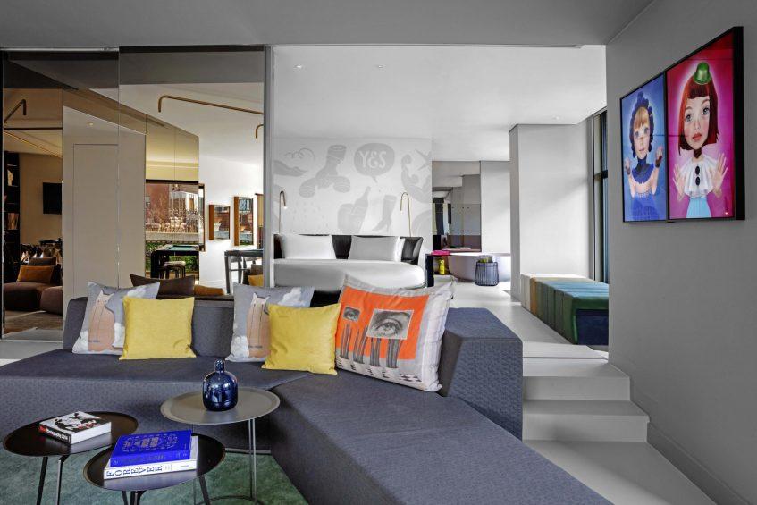 W Amsterdam Luxury Hotel - Amsterdam, Netherlands - WOW Exchange One Bedroom Studio Seating