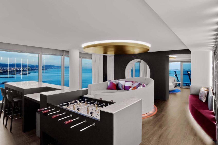 W Barcelona Luxury Hotel - Barcelona, Spain - WOW Suite Living Area