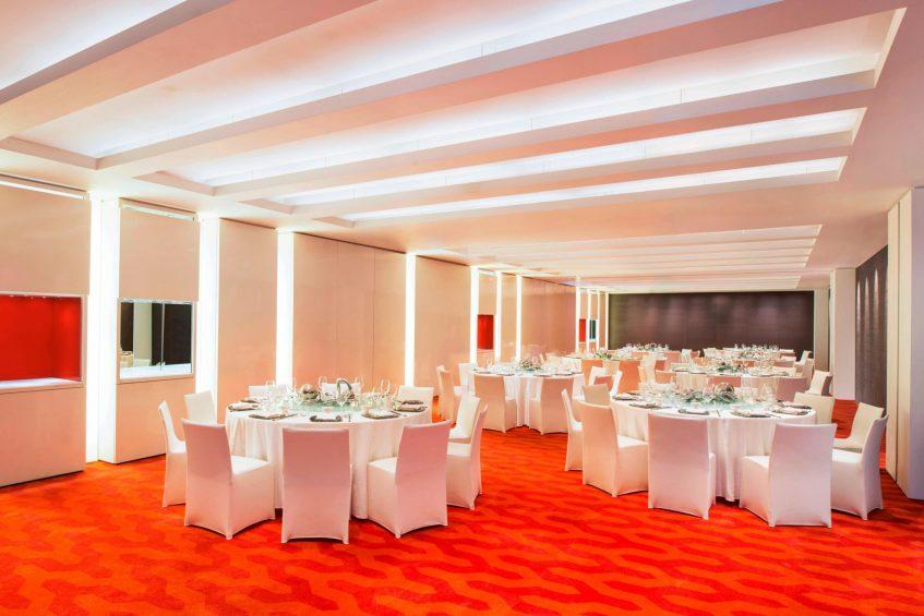 W Taipei Luxury Hotel - Taipei, Taiwan - Studio Banquet Setup