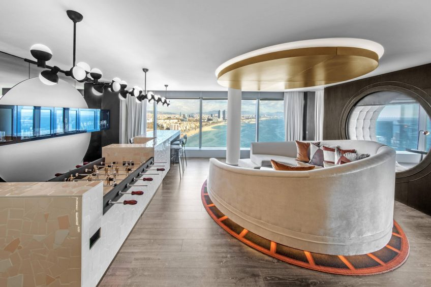 W Barcelona Luxury Hotel - Barcelona, Spain - WOW Suite Living Room