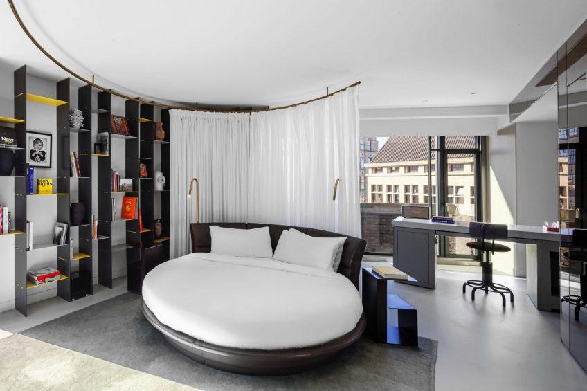 W Amsterdam Luxury Hotel - Amsterdam, Netherlands - WOW Exchange One Bedroom Studio Suite Bedroom