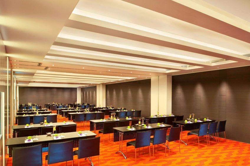 W Taipei Luxury Hotel - Taipei, Taiwan - Studio Room Classroom Setup