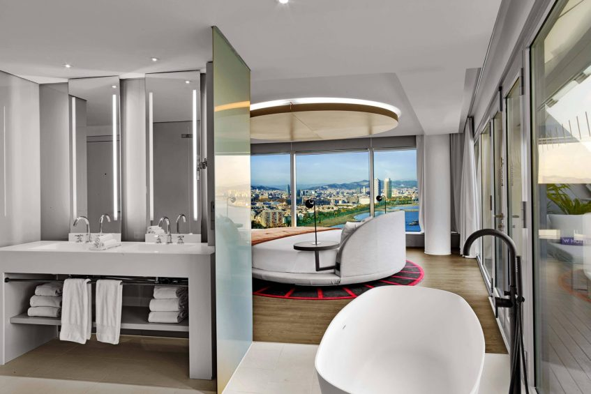 W Barcelona Luxury Hotel - Barcelona, Spain - WOW Suite Vanity
