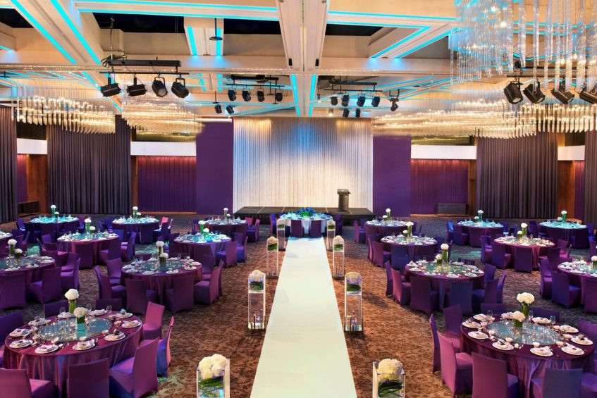 W Taipei Luxury Hotel - Taipei, Taiwan - Mega Meeting Room Wedding Reception