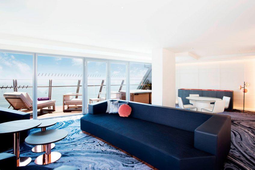 W Barcelona Luxury Hotel - Barcelona, Spain - Marvelous Suite Living Area