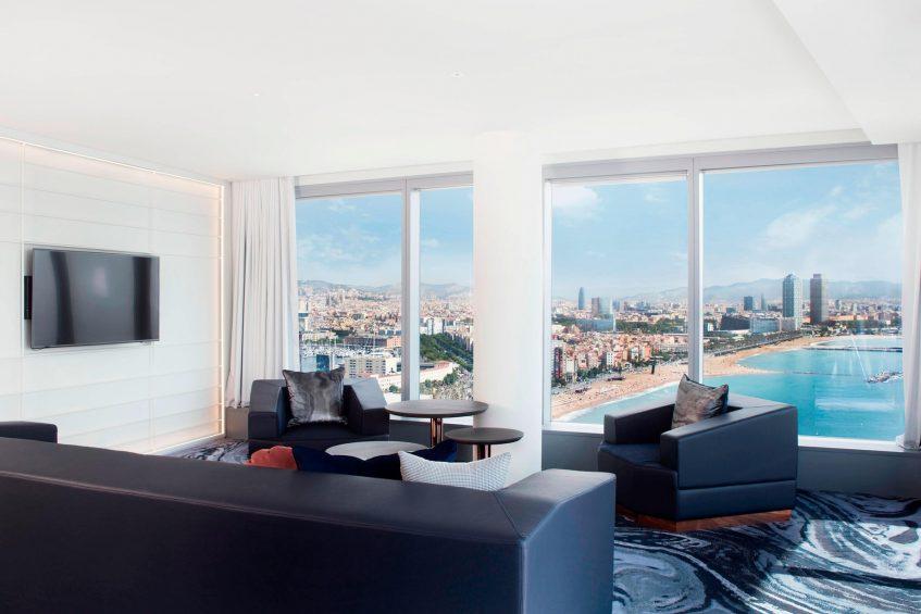 W Barcelona Luxury Hotel - Barcelona, Spain - Marvelous Suite Sitting Area