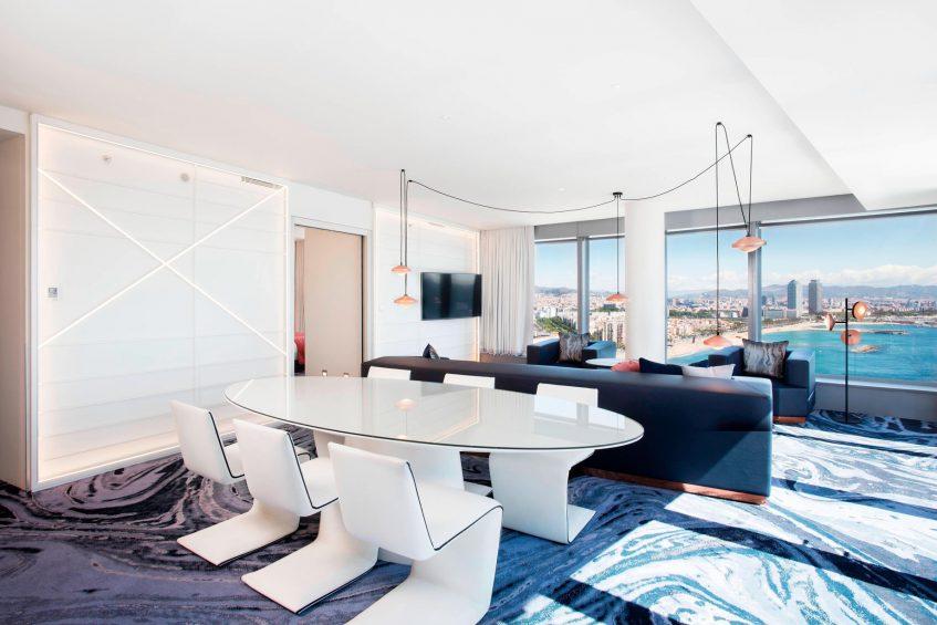 W Barcelona Luxury Hotel - Barcelona, Spain - Spectacular Suite Table