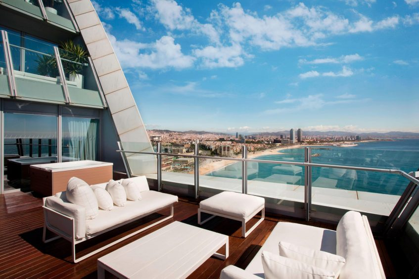 W Barcelona Luxury Hotel - Barcelona, Spain - Spectacular Suite Terrace and City Views
