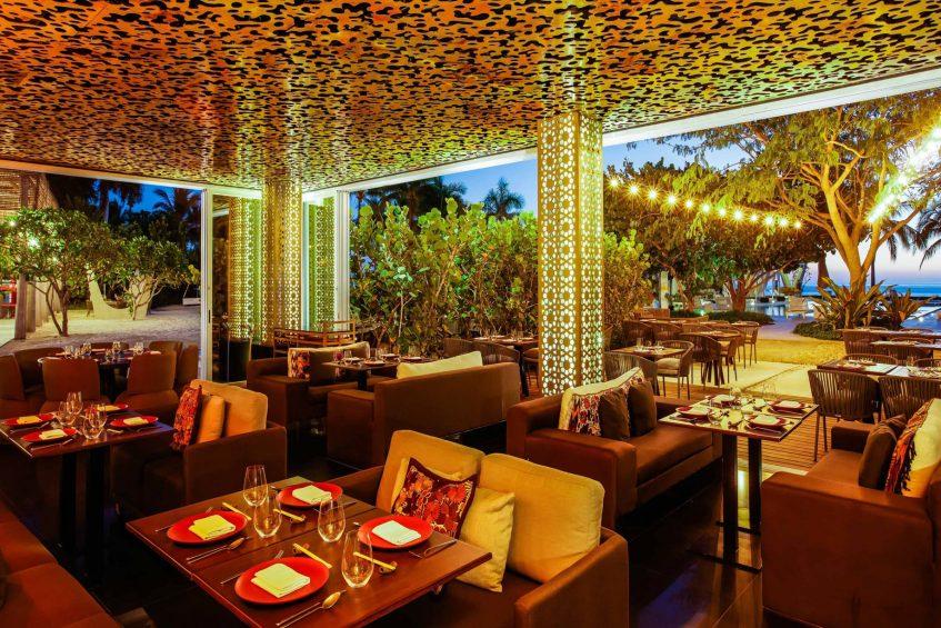 W Punta de Mita Luxury Resort - Punta De Mita, Mexico - Spice Market Restaurant Tables