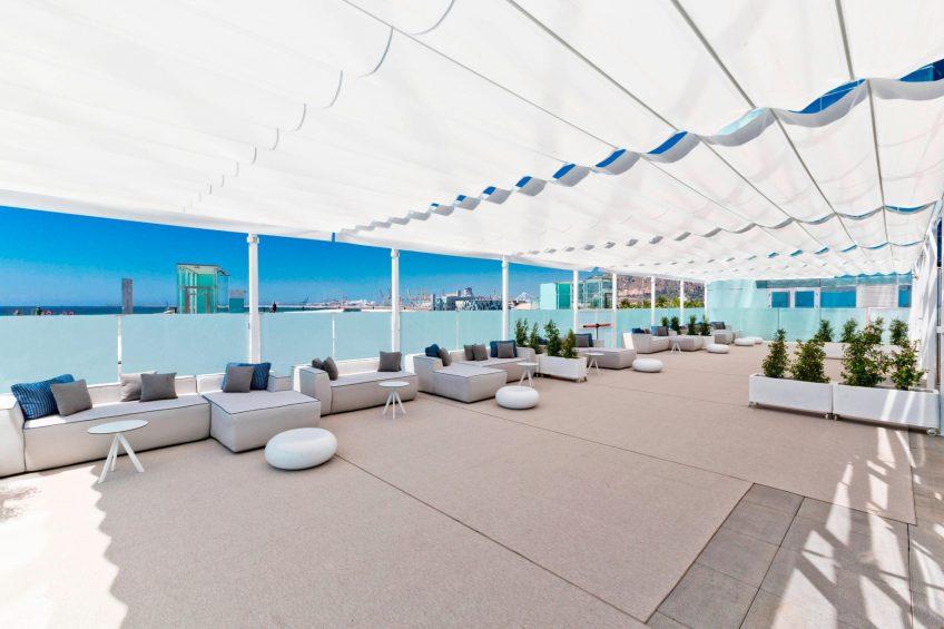 W Barcelona Luxury Hotel - Barcelona, Spain - BREEZE Terrace Sea Views