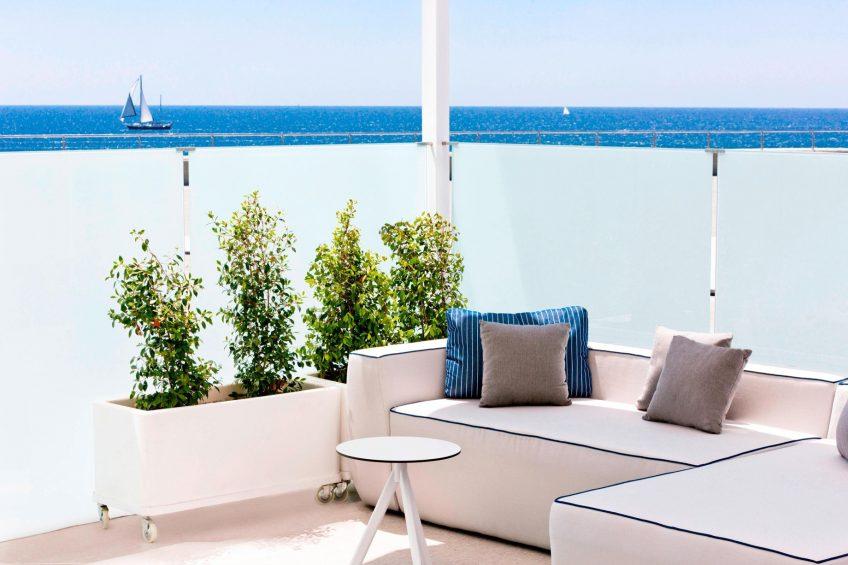 W Barcelona Luxury Hotel - Barcelona, Spain - BREEZE Terrace Seating Sea Views
