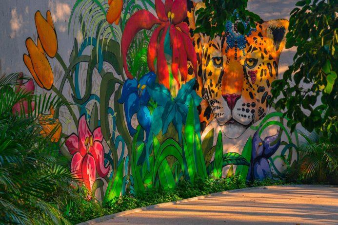 W Punta de Mita Luxury Resort - Punta De Mita, Mexico - Jaguar Graffiti Wall