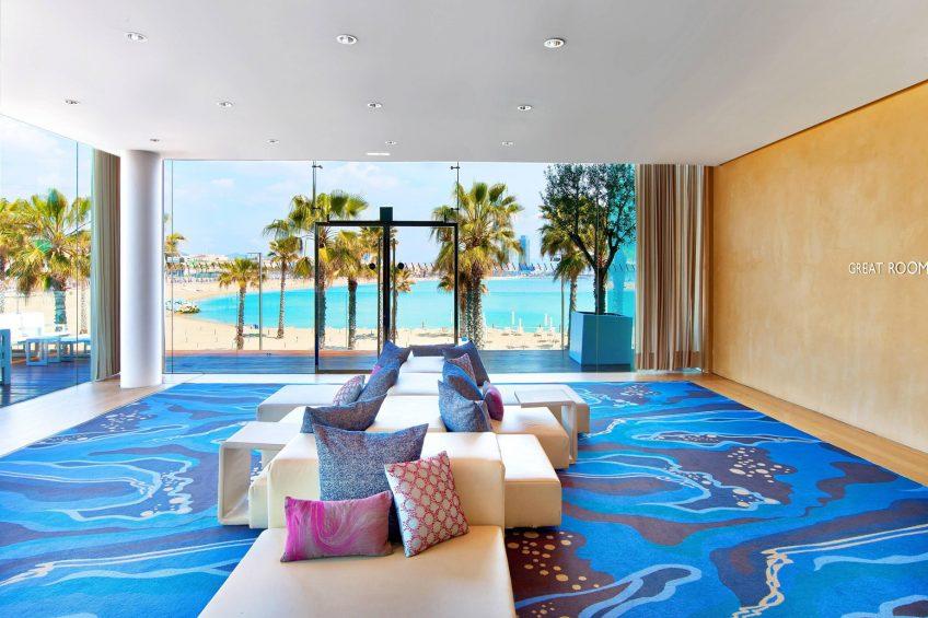 W Barcelona Luxury Hotel - Barcelona, Spain - Great Room Foyer Sofas