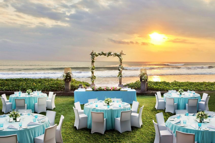 W Bali Seminyak Luxury Resort - Seminyak, Indonesia - Wedding Ceremony Sunset Reception