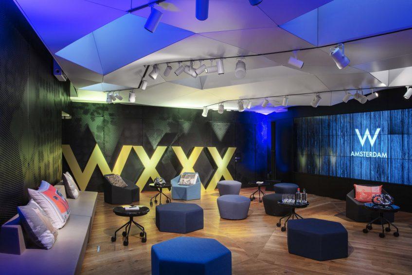 W Amsterdam Luxury Hotel - Amsterdam, Netherlands - Great Room 1 Social Setup Decor