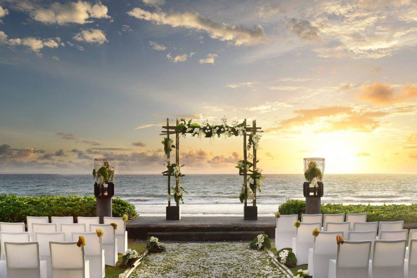 W Bali Seminyak Luxury Resort - Seminyak, Indonesia - Wedding Ceremony Sunset