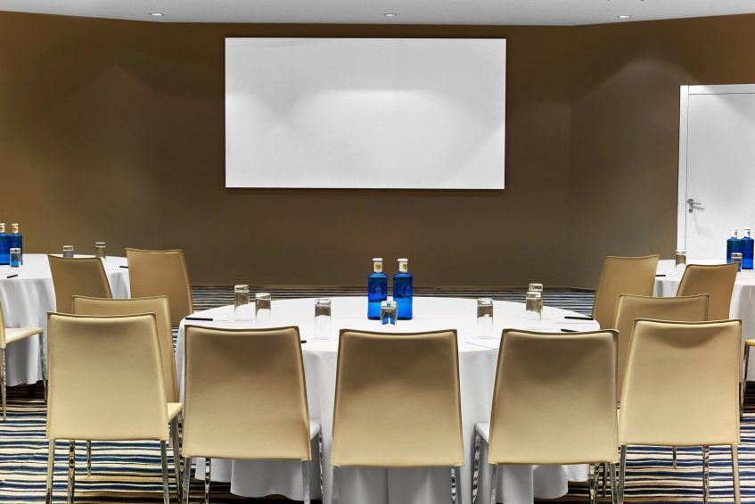 W Barcelona Luxury Hotel - Barcelona, Spain - Studio Meeting Room Set Up