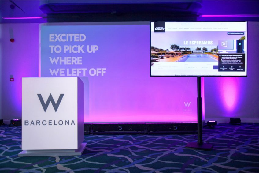 W Barcelona Luxury Hotel - Barcelona, Spain - Greatroom Hybrid Meeting Stage