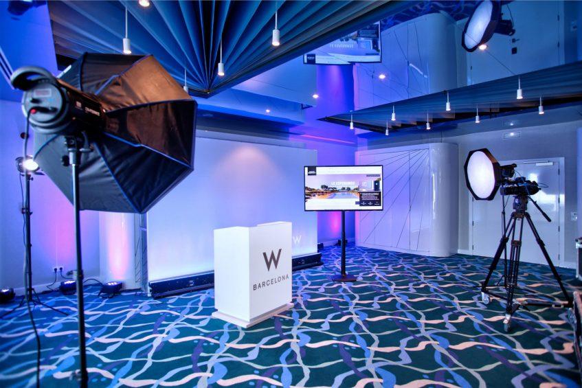 W Barcelona Luxury Hotel - Barcelona, Spain - Hybrid Meeting Studio