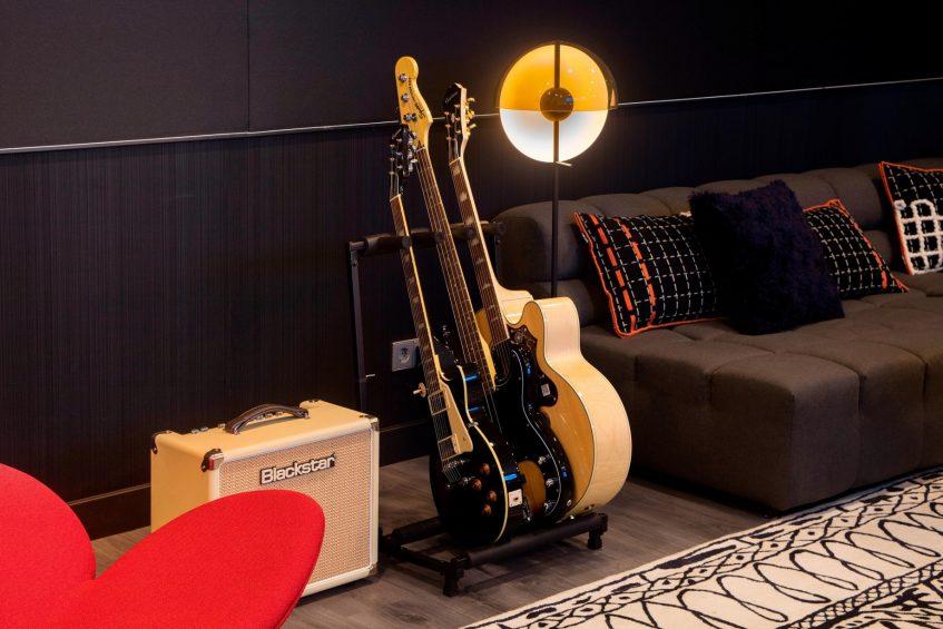 W Barcelona Luxury Hotel - Barcelona, Spain - W Sound Suite Guitars