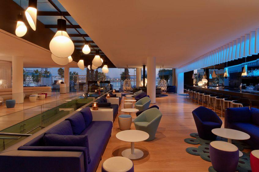 W Barcelona Luxury Hotel - Barcelona, Spain - W Lounge and W Bar Lounge Seating