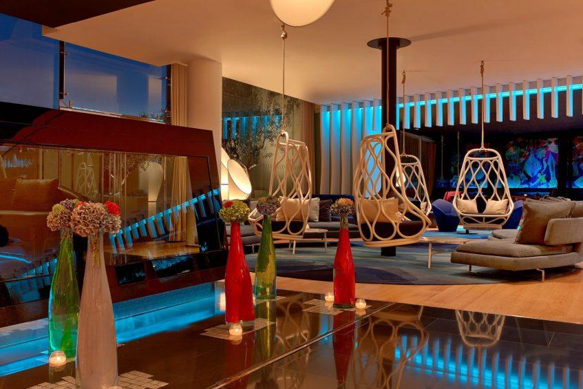 W Barcelona Luxury Hotel - Barcelona, Spain - W Lounge and W Bar Night