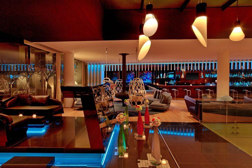 W Barcelona Luxury Hotel - Barcelona, Spain - W Lounge and W Bar Seating