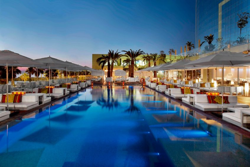 W Barcelona Luxury Hotel - Barcelona, Spain - WET Bar Sunset