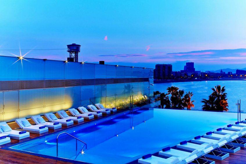 W Barcelona Luxury Hotel - Barcelona, Spain - Sun Deck Twilight
