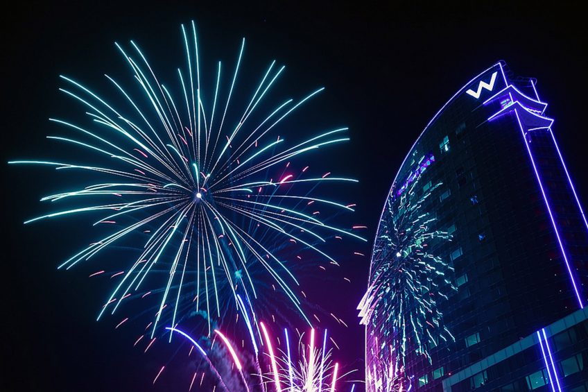 W Barcelona Luxury Hotel - Barcelona, Spain - W Barcelona Fireworks