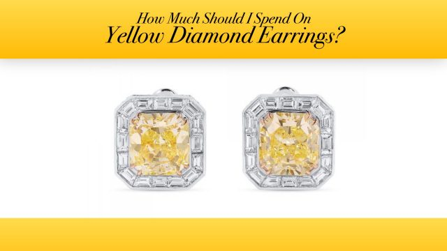 How Much Should I Spend On Yellow Diamond Earrings?