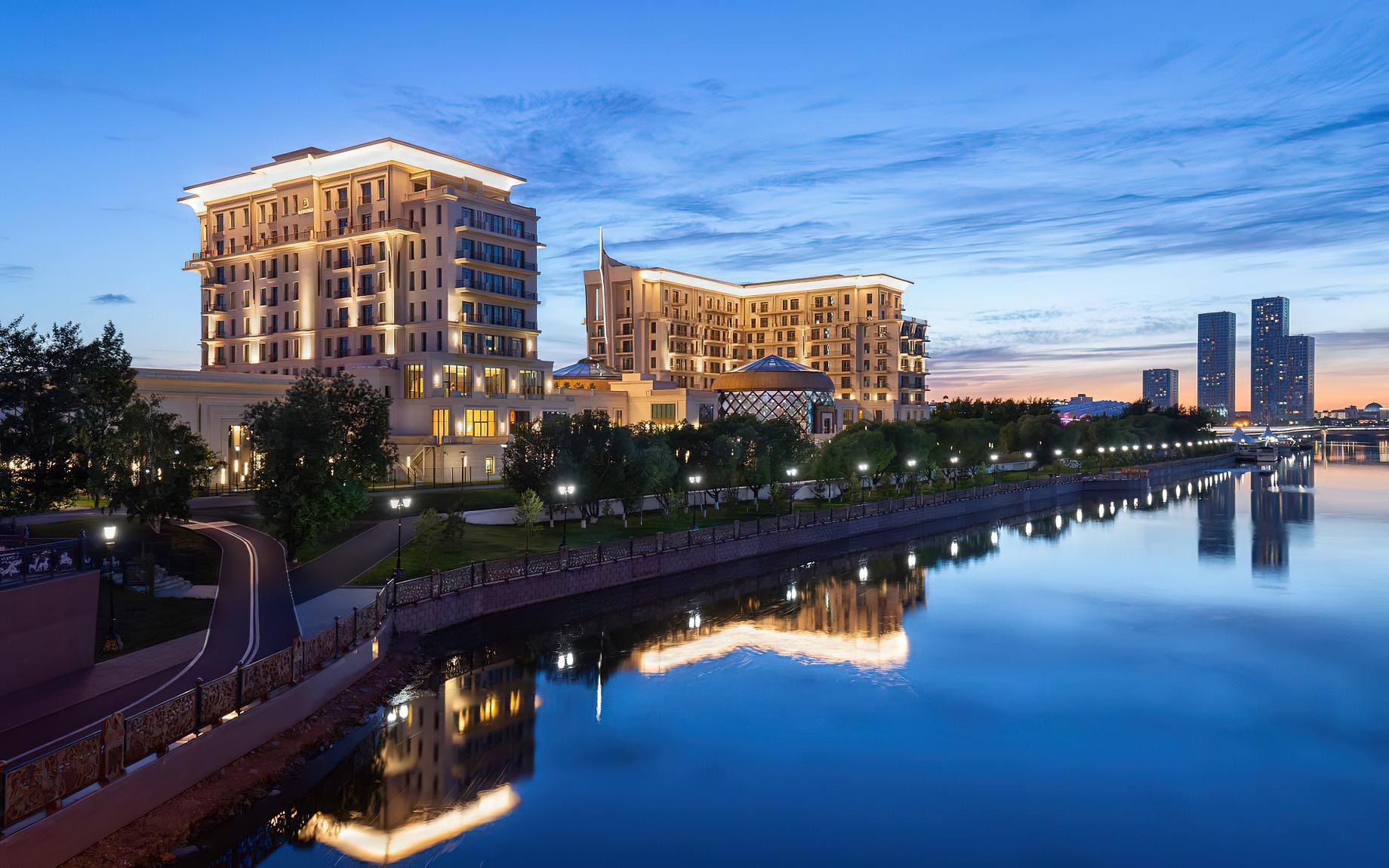 The St. Regis Astana Luxury Hotel - Astana, Kazakhstan - Hotel River View Night