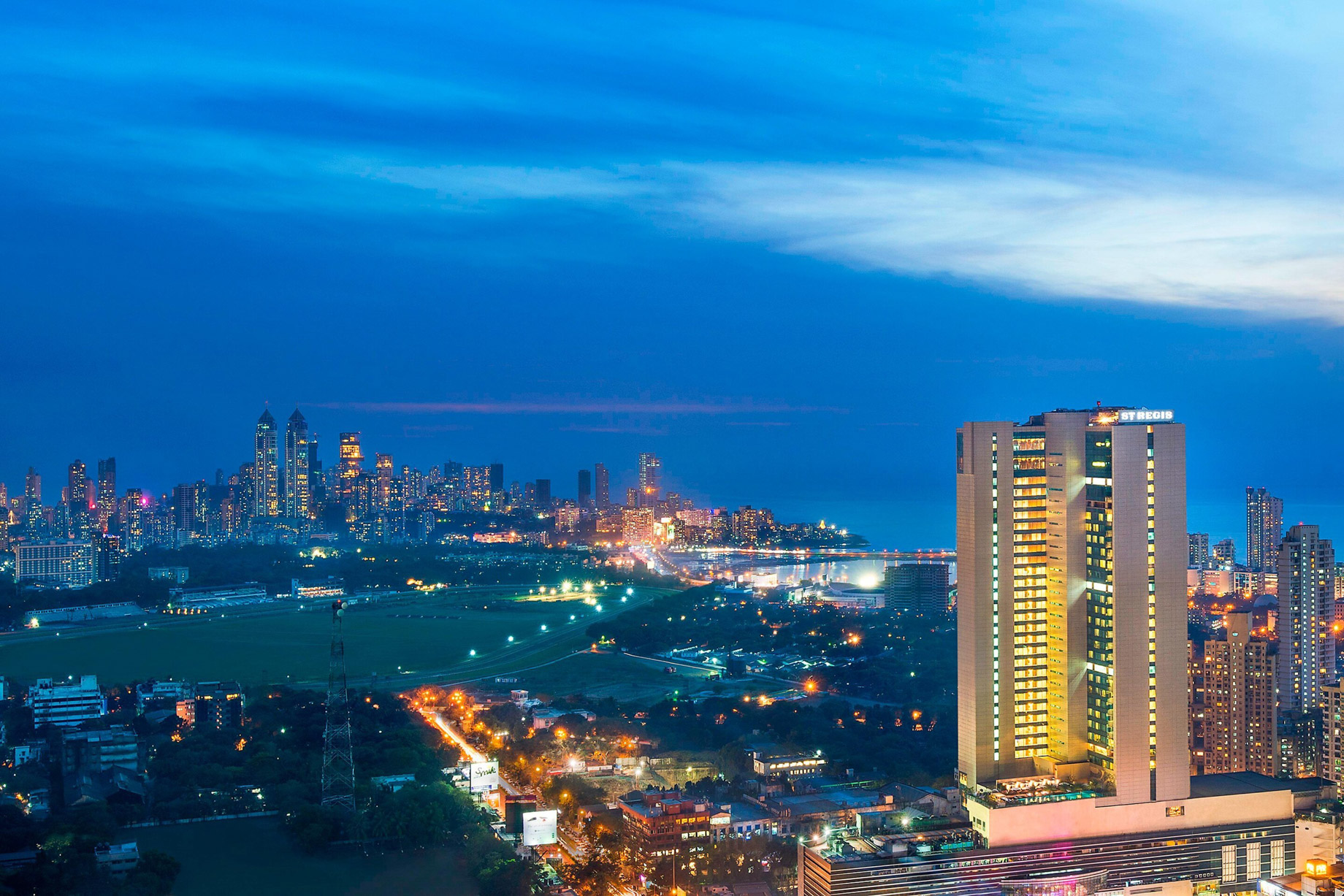 The St. Regis Mumbai Luxury Hotel - Mumbai, India - Hotel Exterior Night View