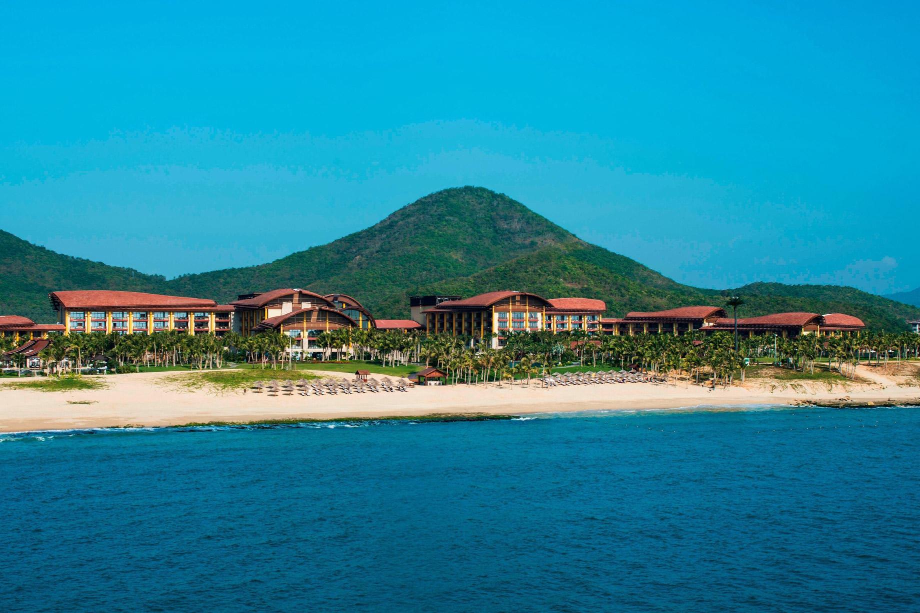 The St. Regis Sanya Yalong Bay Luxury Resort - Hainan, China - Yalong Bay Resort Beach View Aerial
